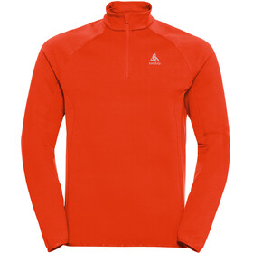 Odlo Carve Ceramiwarm Midlayer met 1/2 rits Heren, orange.com